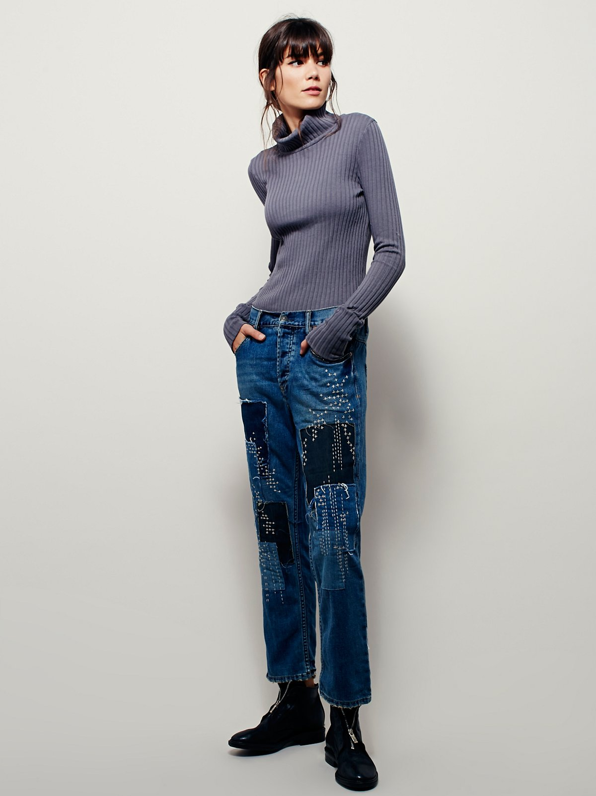 Sanborn Embroidered Jean