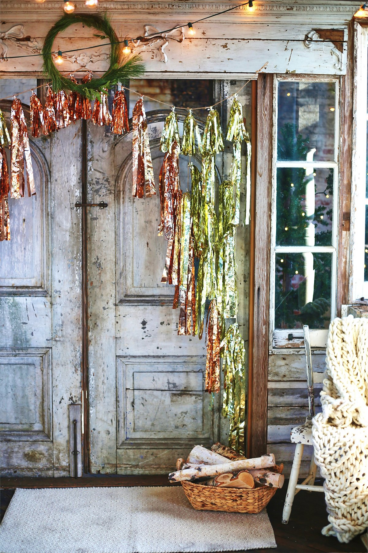 Tinsel Garland Curtain