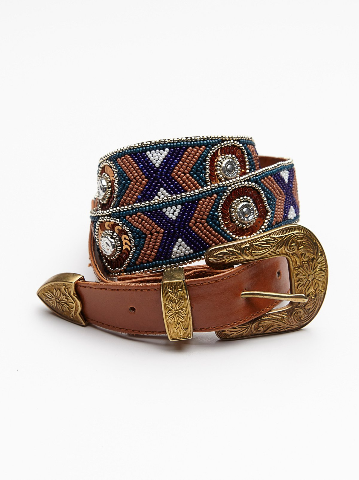 Embellished Western Belt
