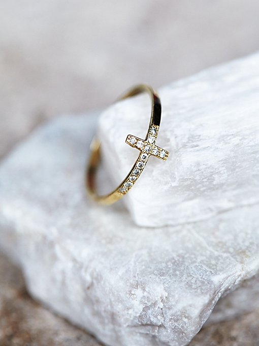 Product Image: Diamond Cross Ring
