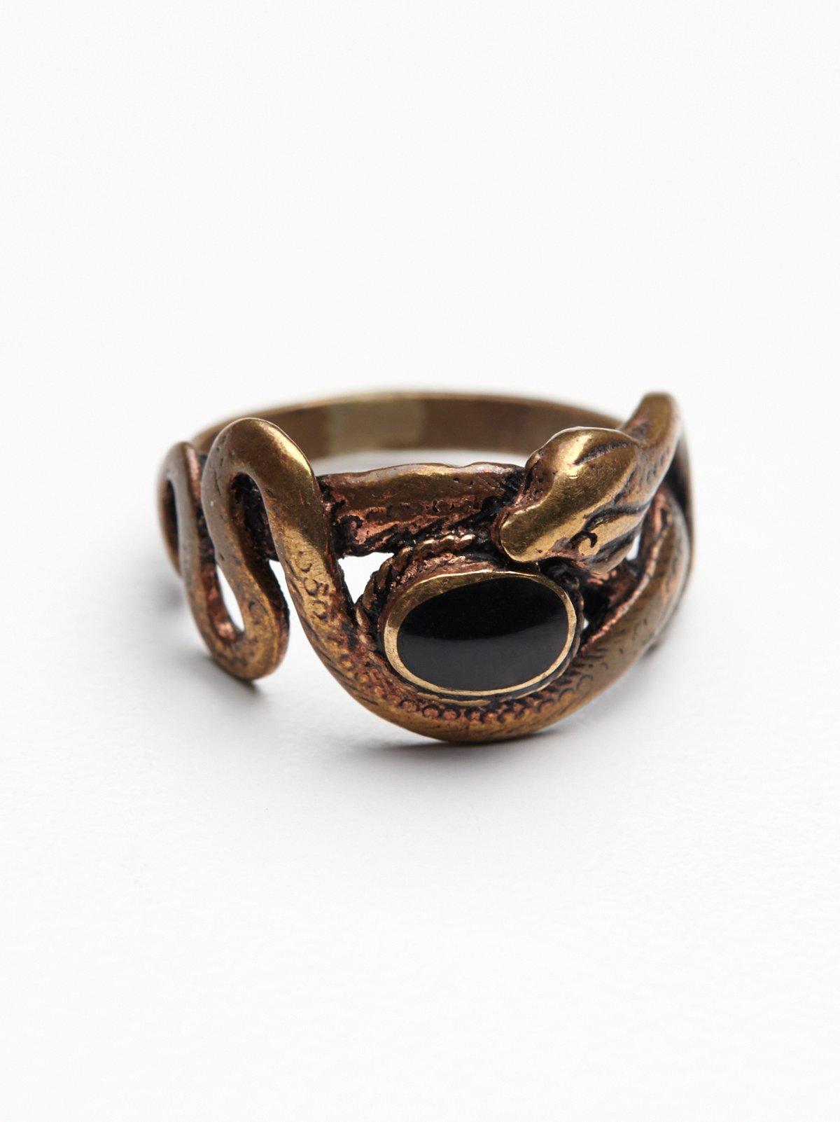 缠绕式蛇形戒指