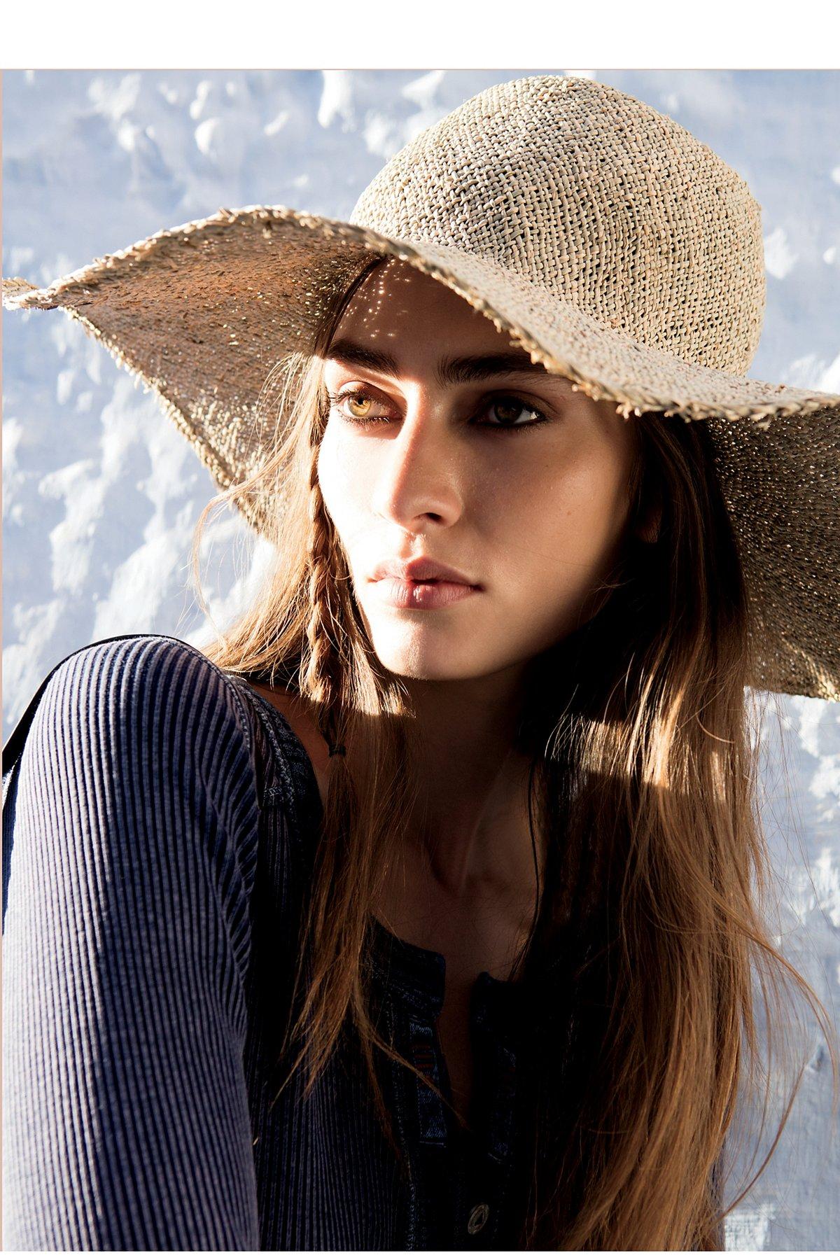 Agretti Sea Straw Wide Brim Hat