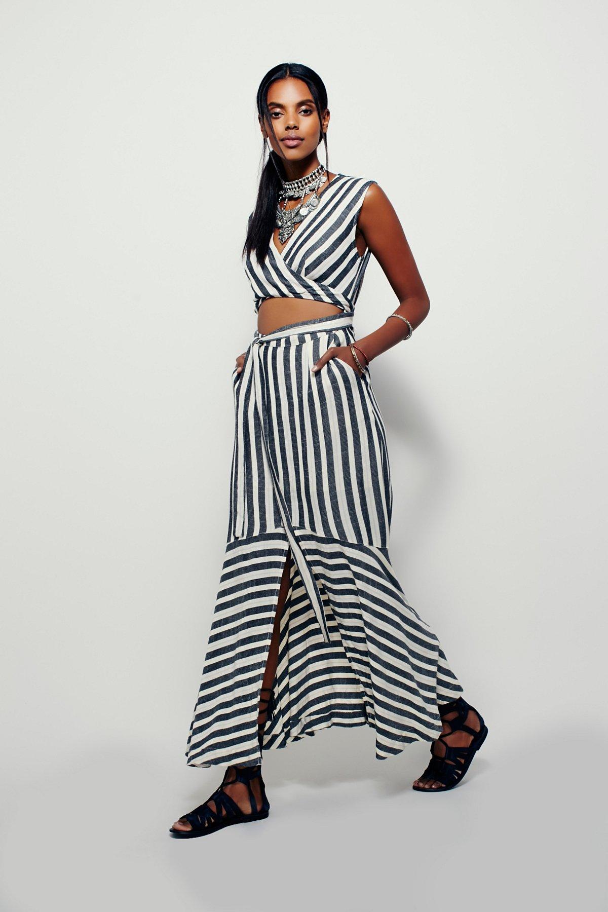 LA Babe Stripe Midi Dress