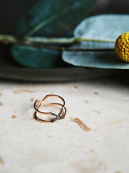 Product Image: Mixed Diamond X Ring