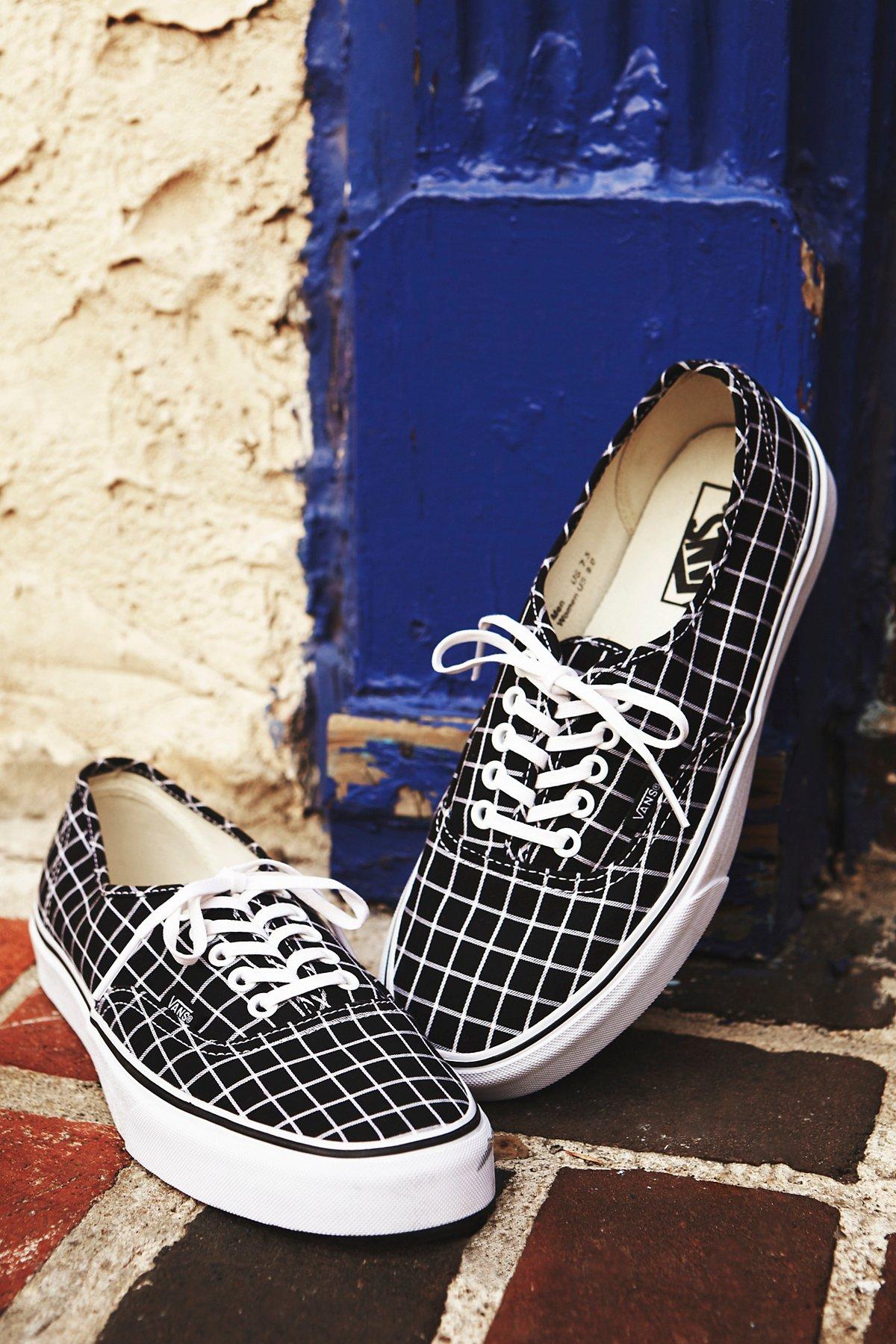 Authentic格子低帮运动鞋