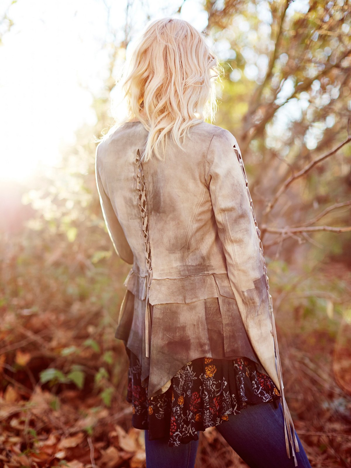 Laced Ophelia Suede Jacket