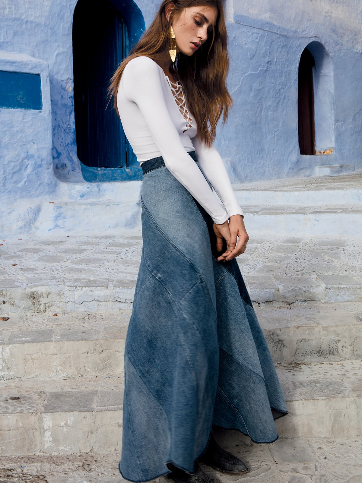 Still Into You Denim Maxi