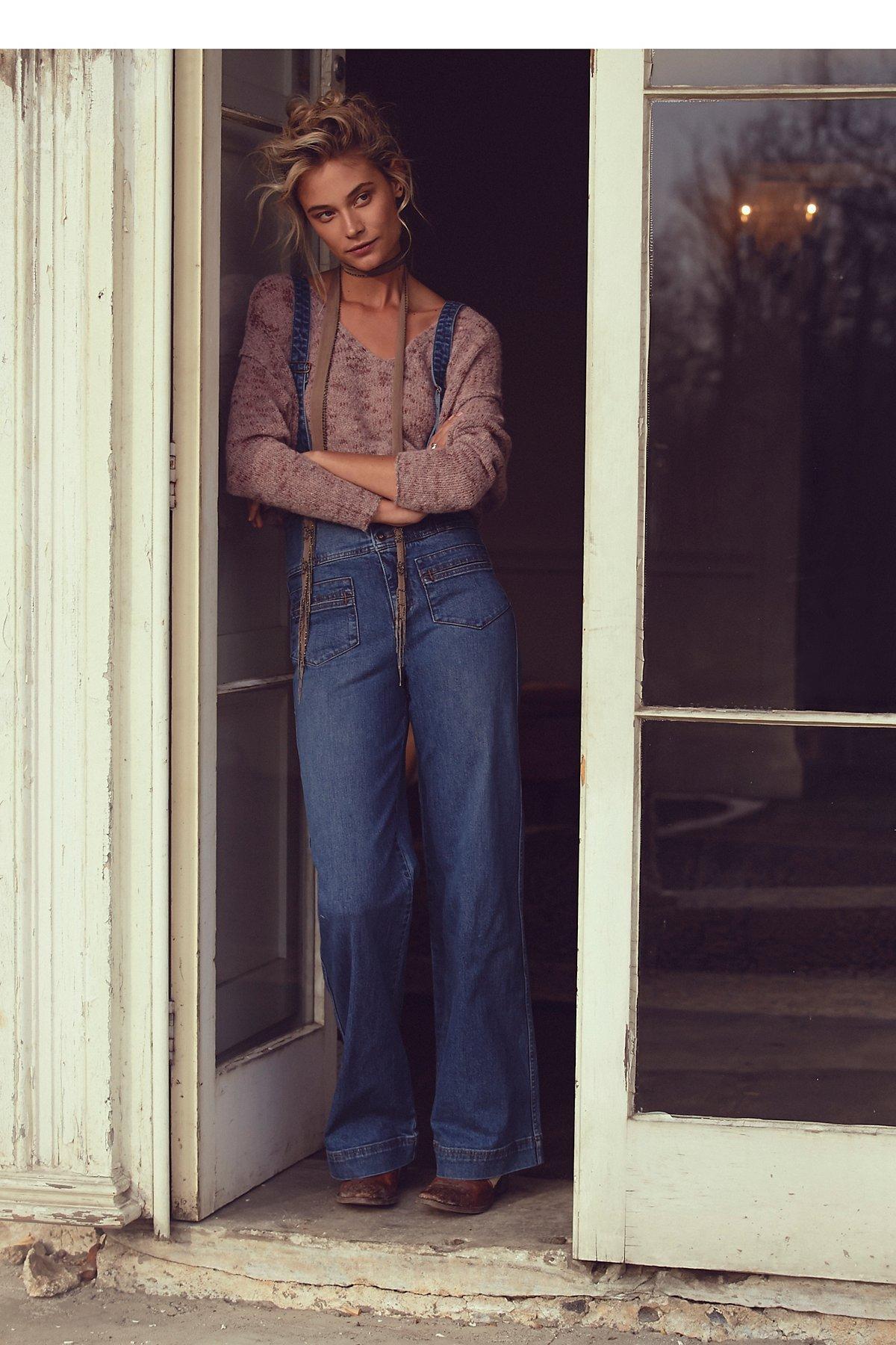 Penrose背带喇叭裤