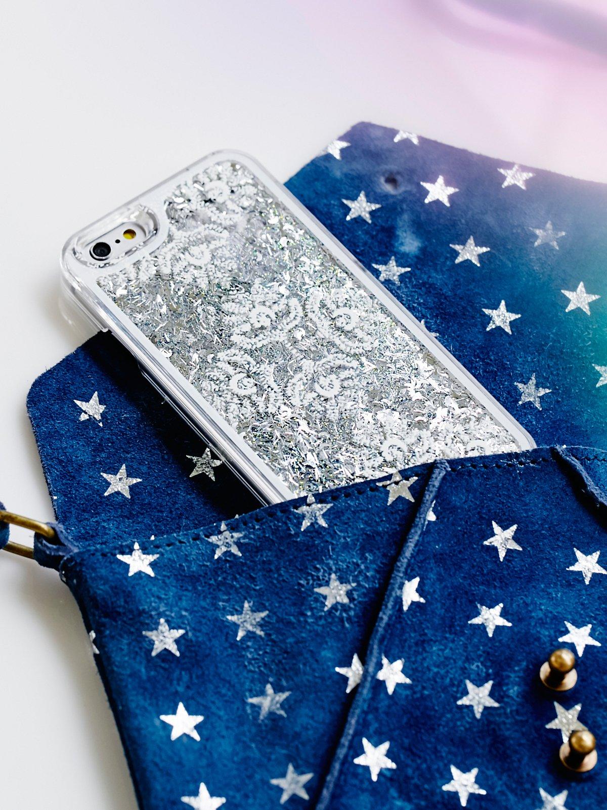 Cosmic Storm Liquid Glitter iPhone Case