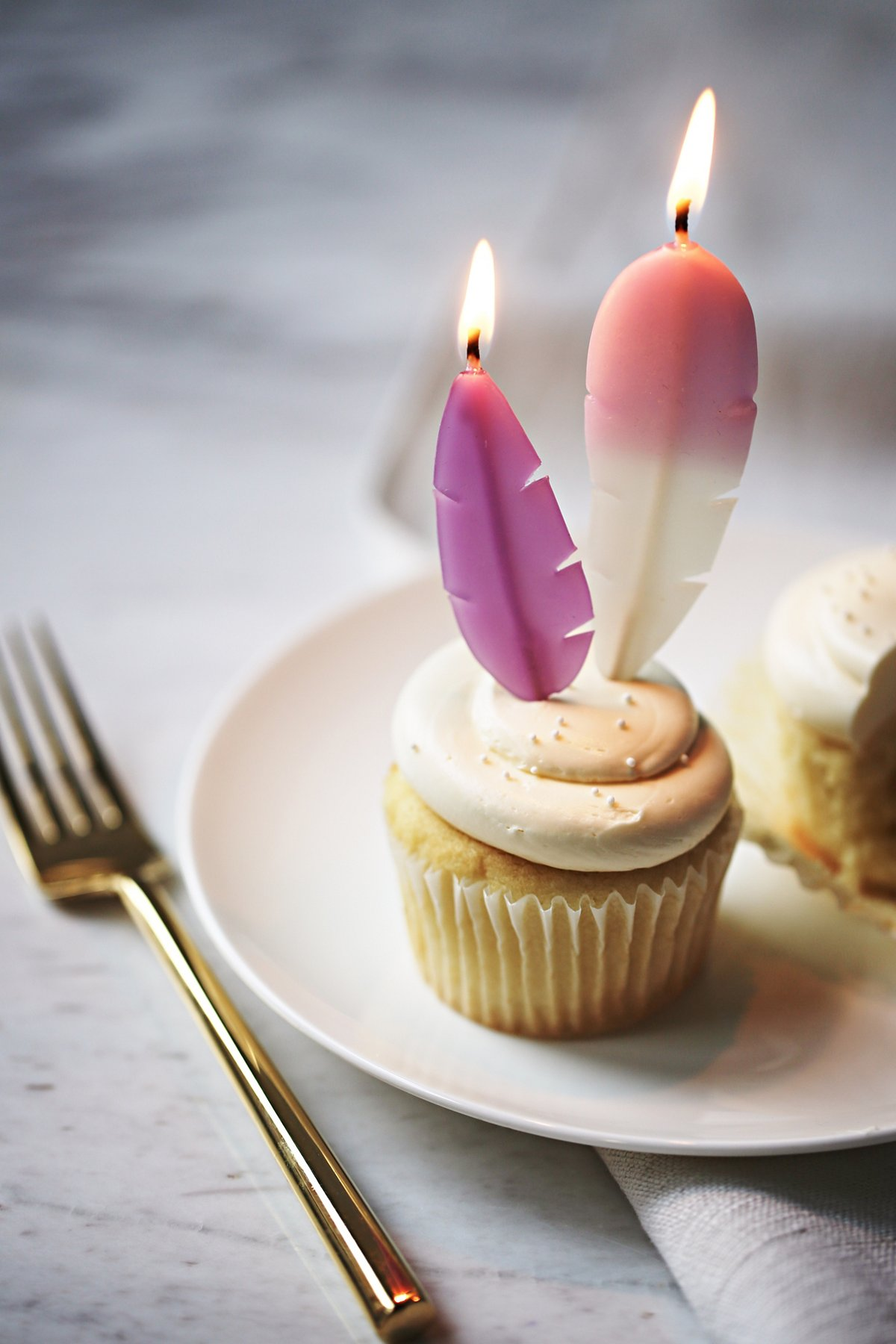 Feather Candles