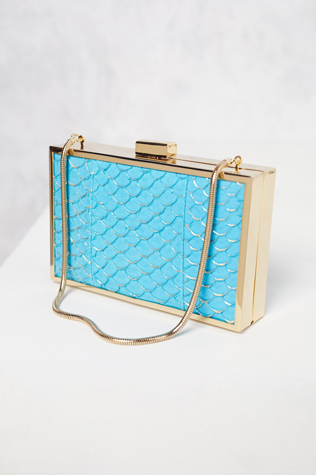 Sea Salt Croc Clutch