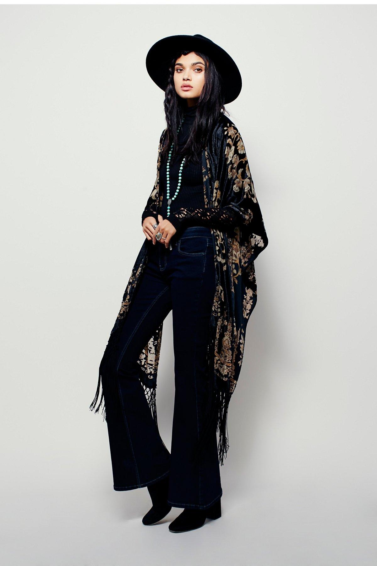East End Velvet Kimono