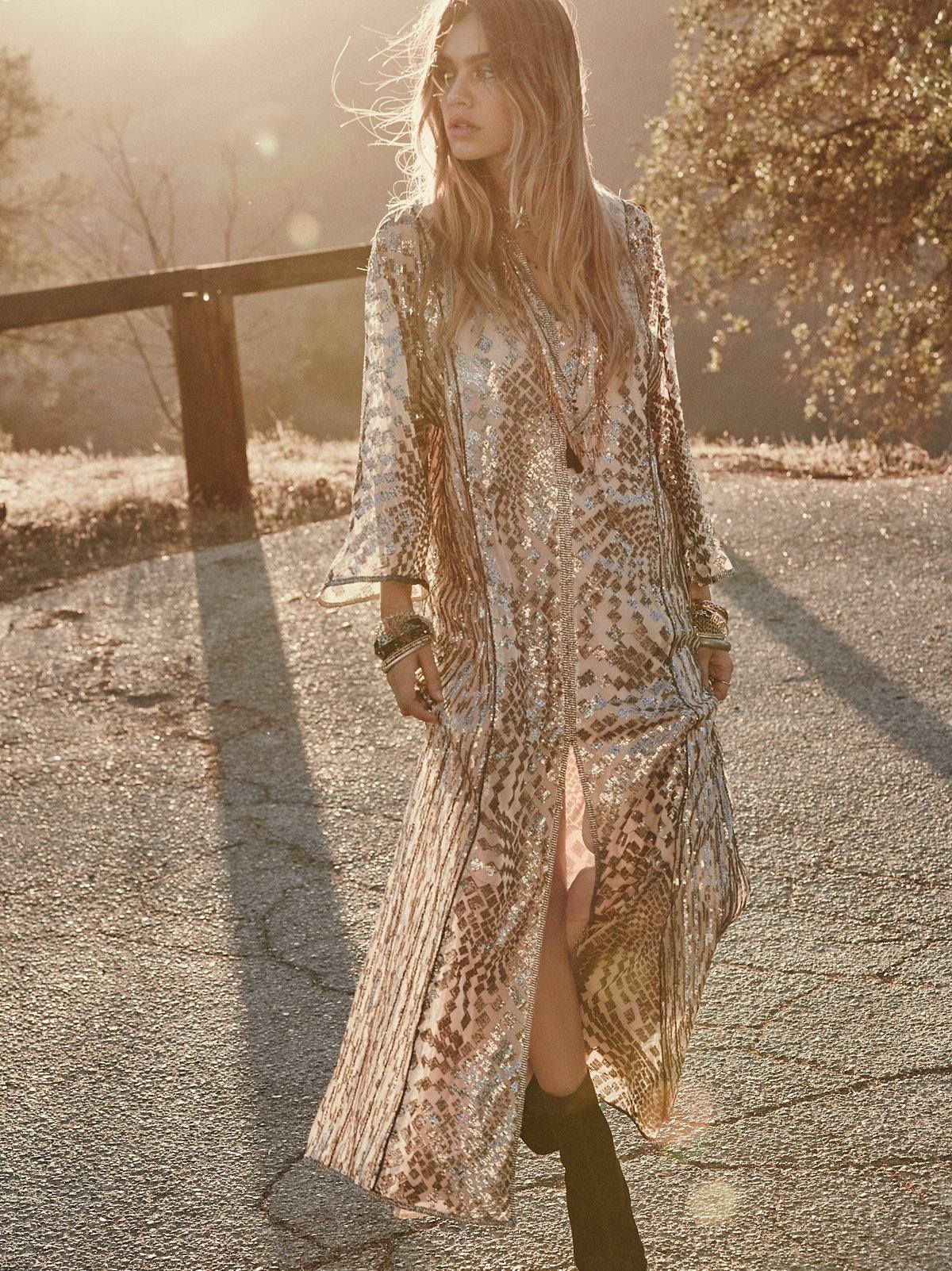 Silver及踝长裙