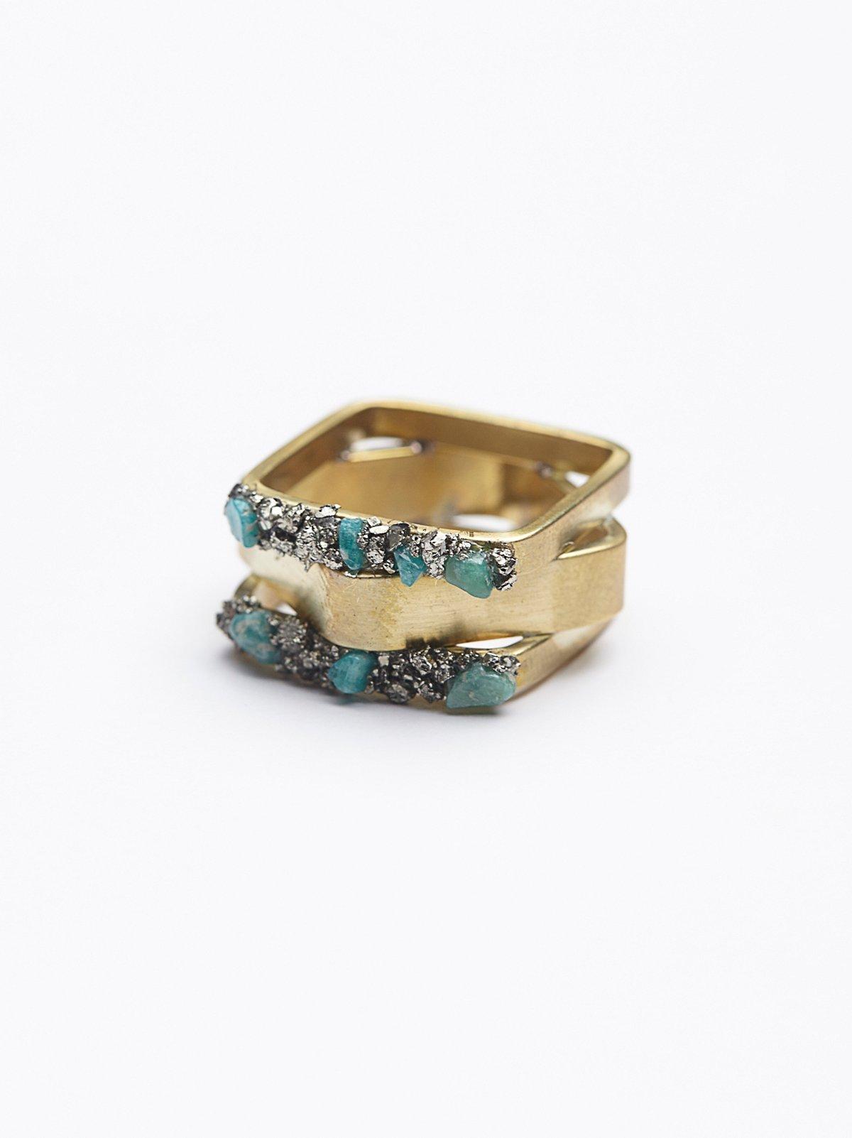 Pyrite混合造型戒指
