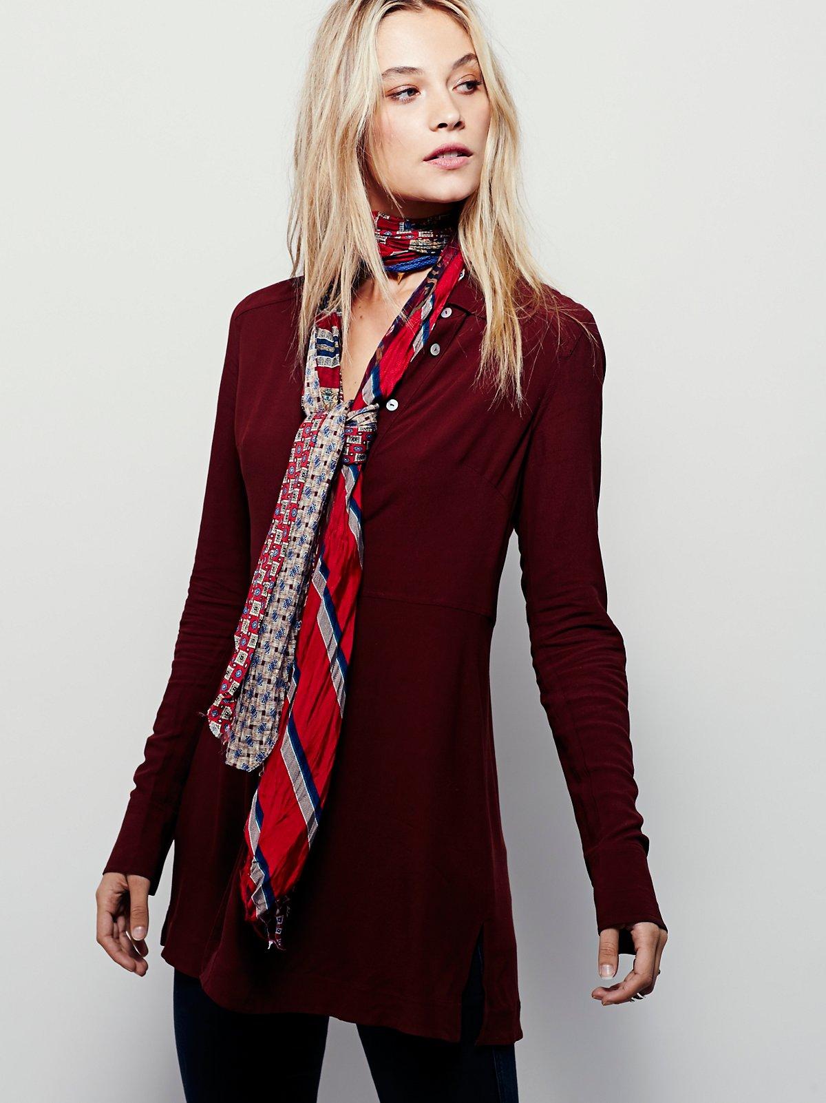 复古丝质领带围巾