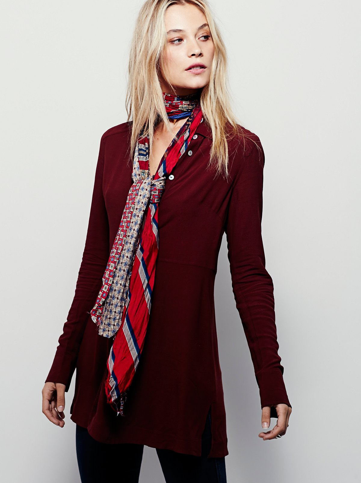 Vintage Silk Tie Scarf