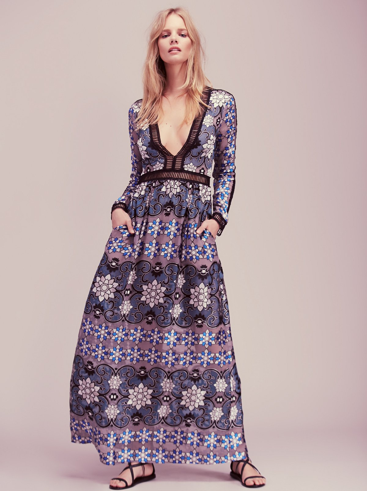 Juliet及踝连衣裙