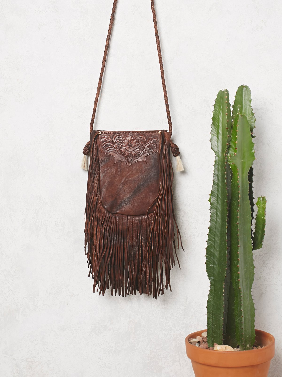 Cactus Flower Crossbody