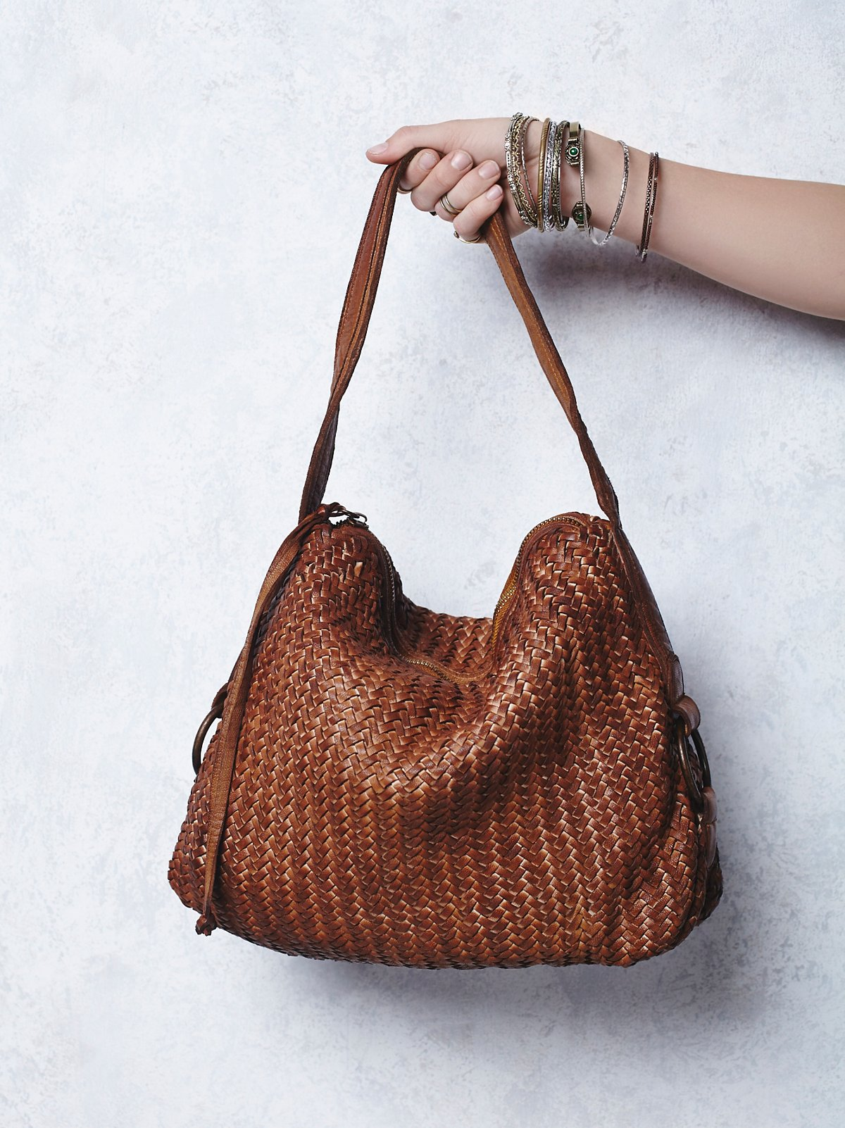 Woven Wishes Leather Tote