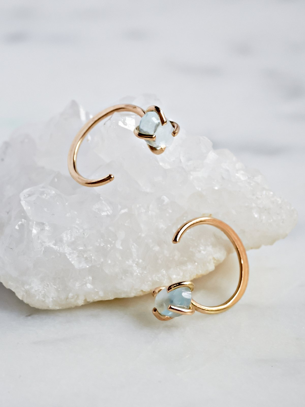 Raw Aqua Ear Hugging Hoop