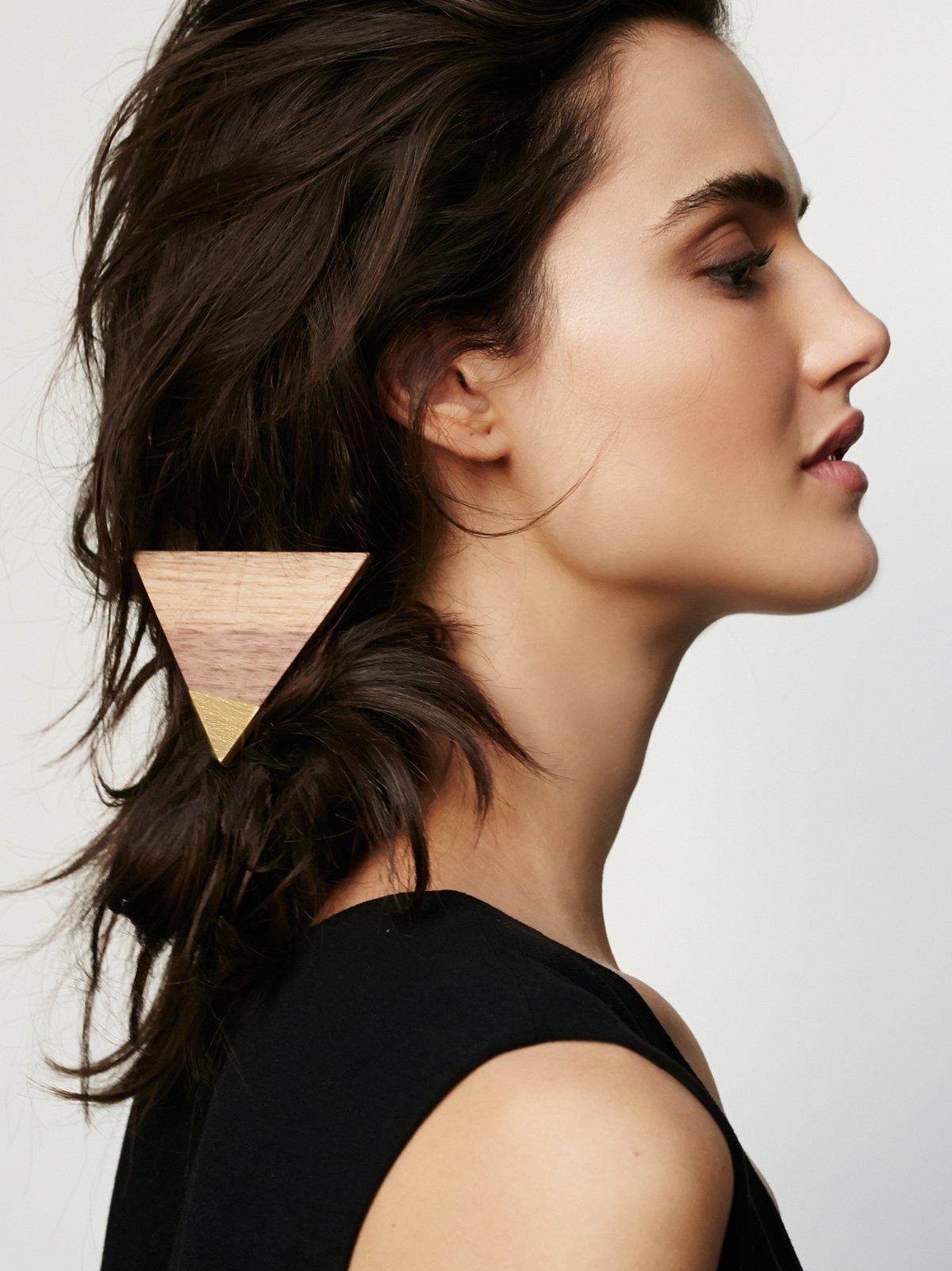 Painted Wood Hair Tie
