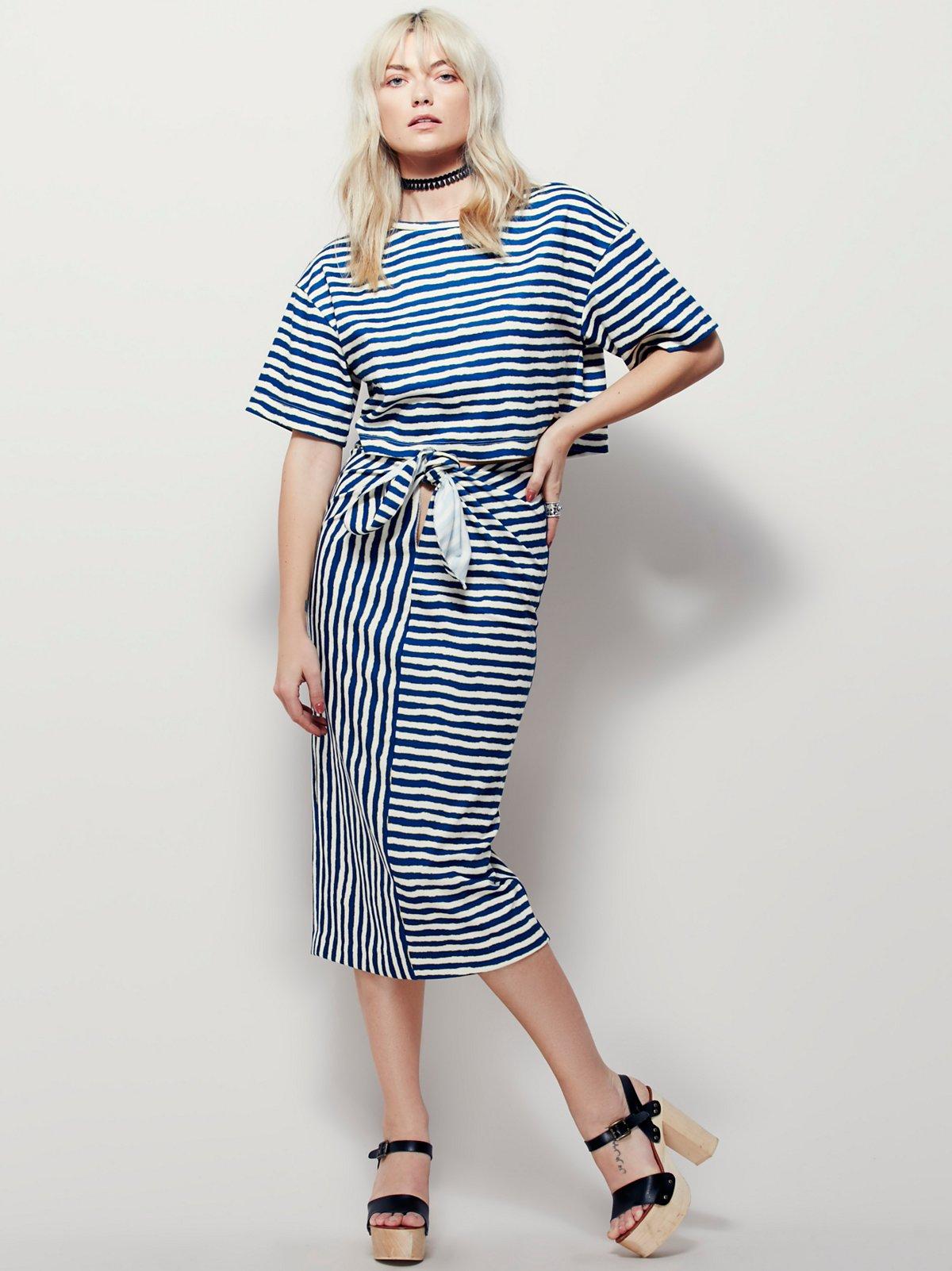 Striped Knit Set