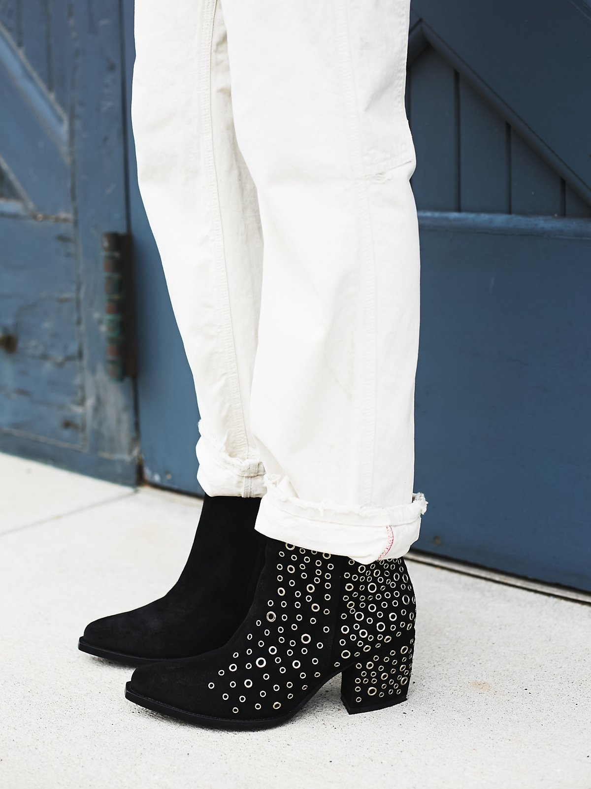 Cascading Eyelets Ankle Boot