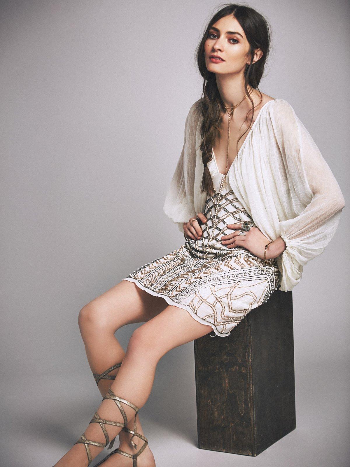Circe Embellished Mini Dress