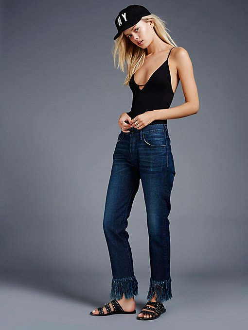 Product Image: 流苏短款牛仔裤
