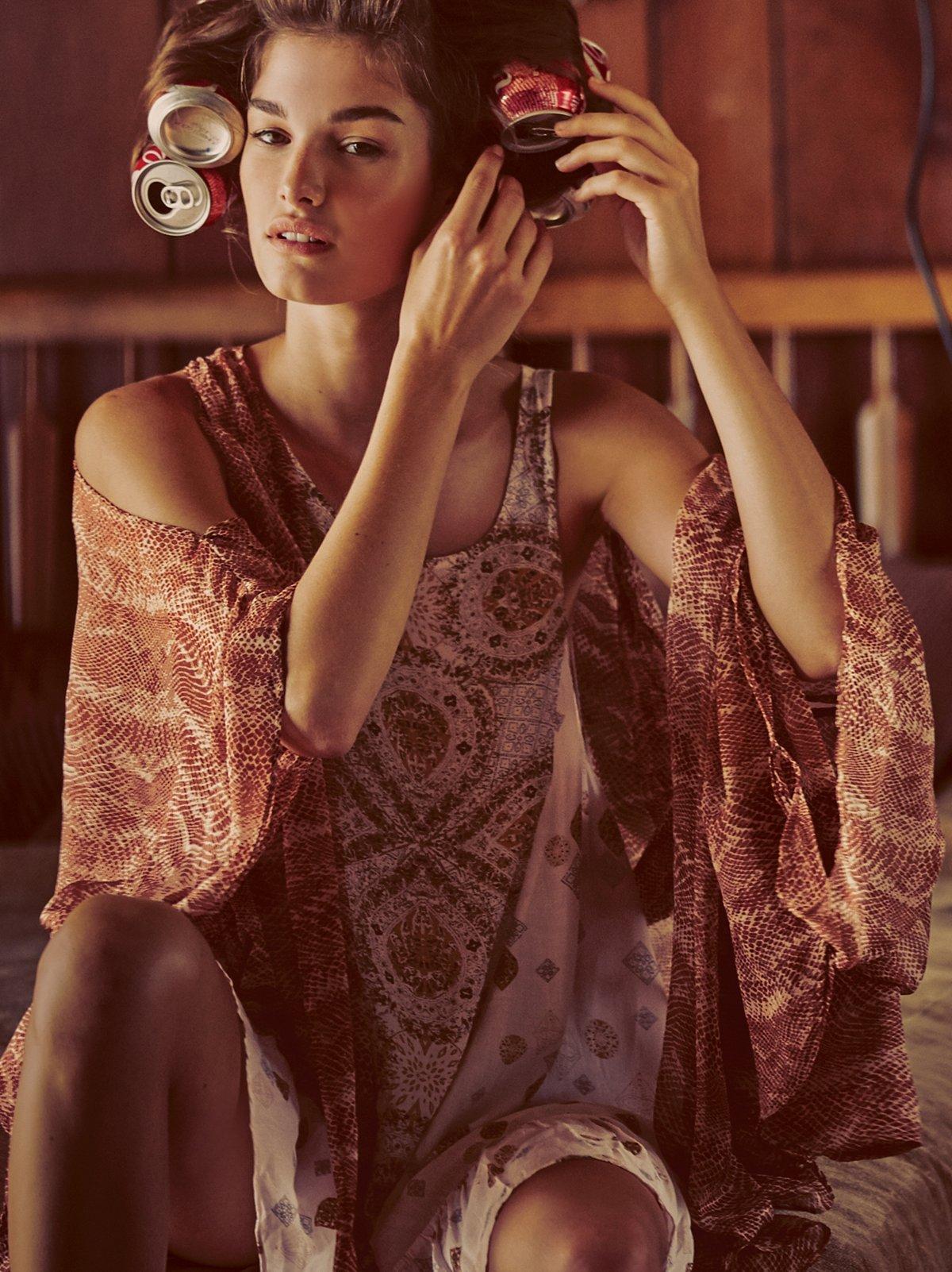 Bodega印花和服式上衣