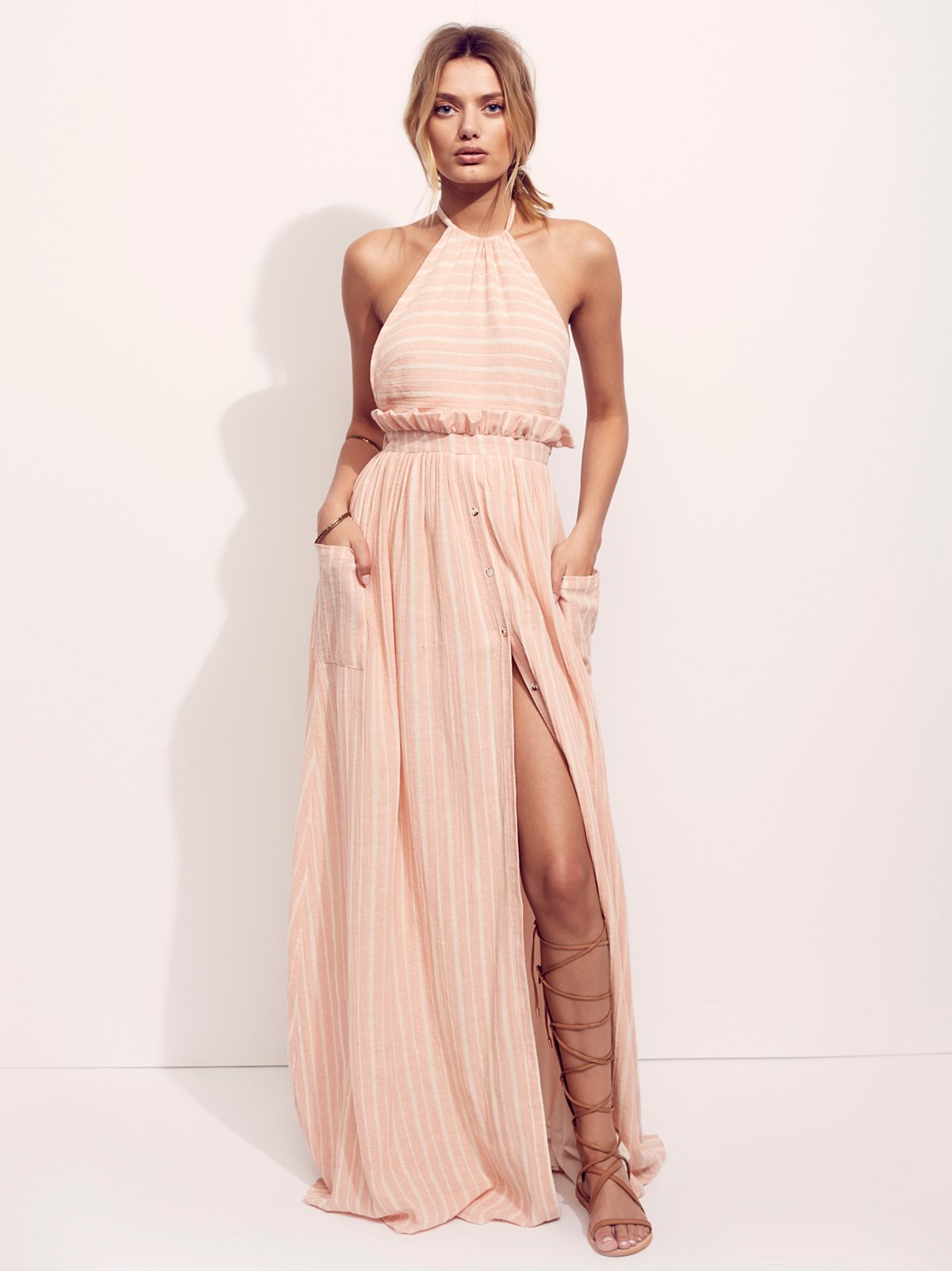 Gauze Halter Dress