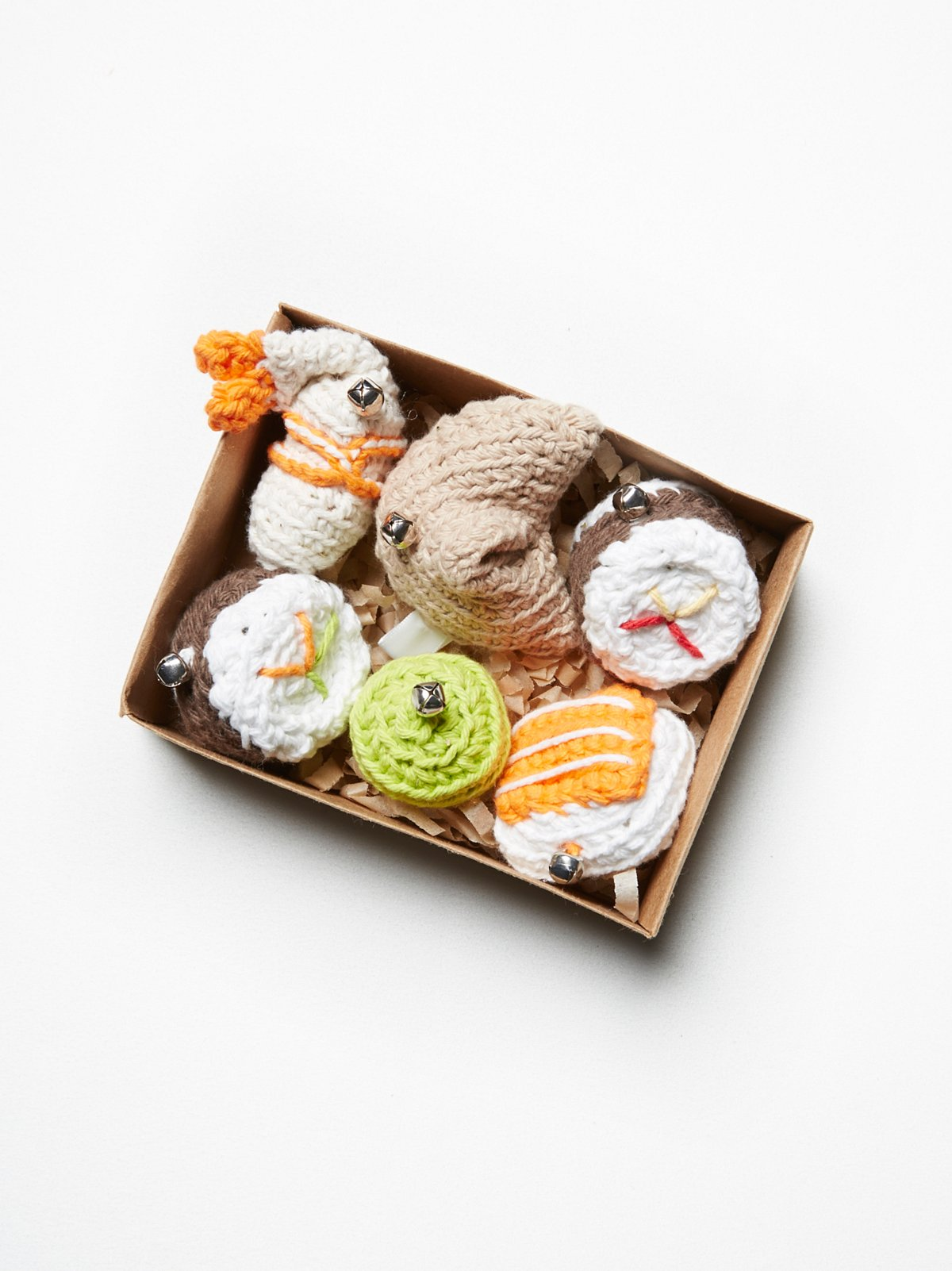 Hand Knit Bento Box Toy Set