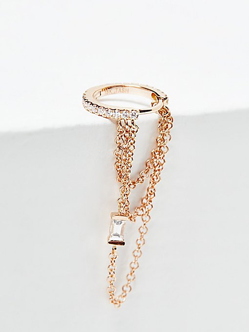 Product Image: Diamond Eternity Baguette Chain Hoop
