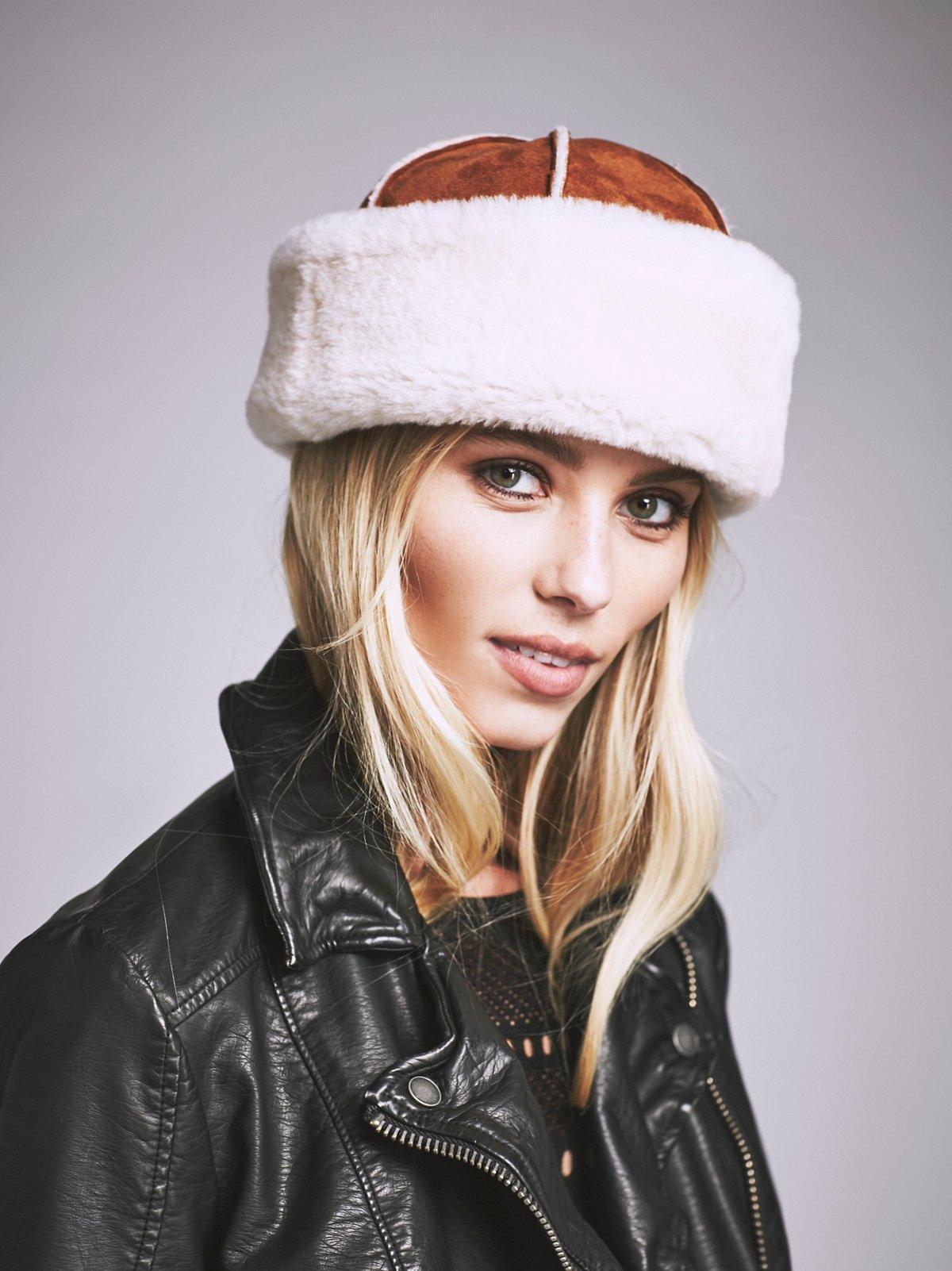 Lykka Shearling Suede Hat