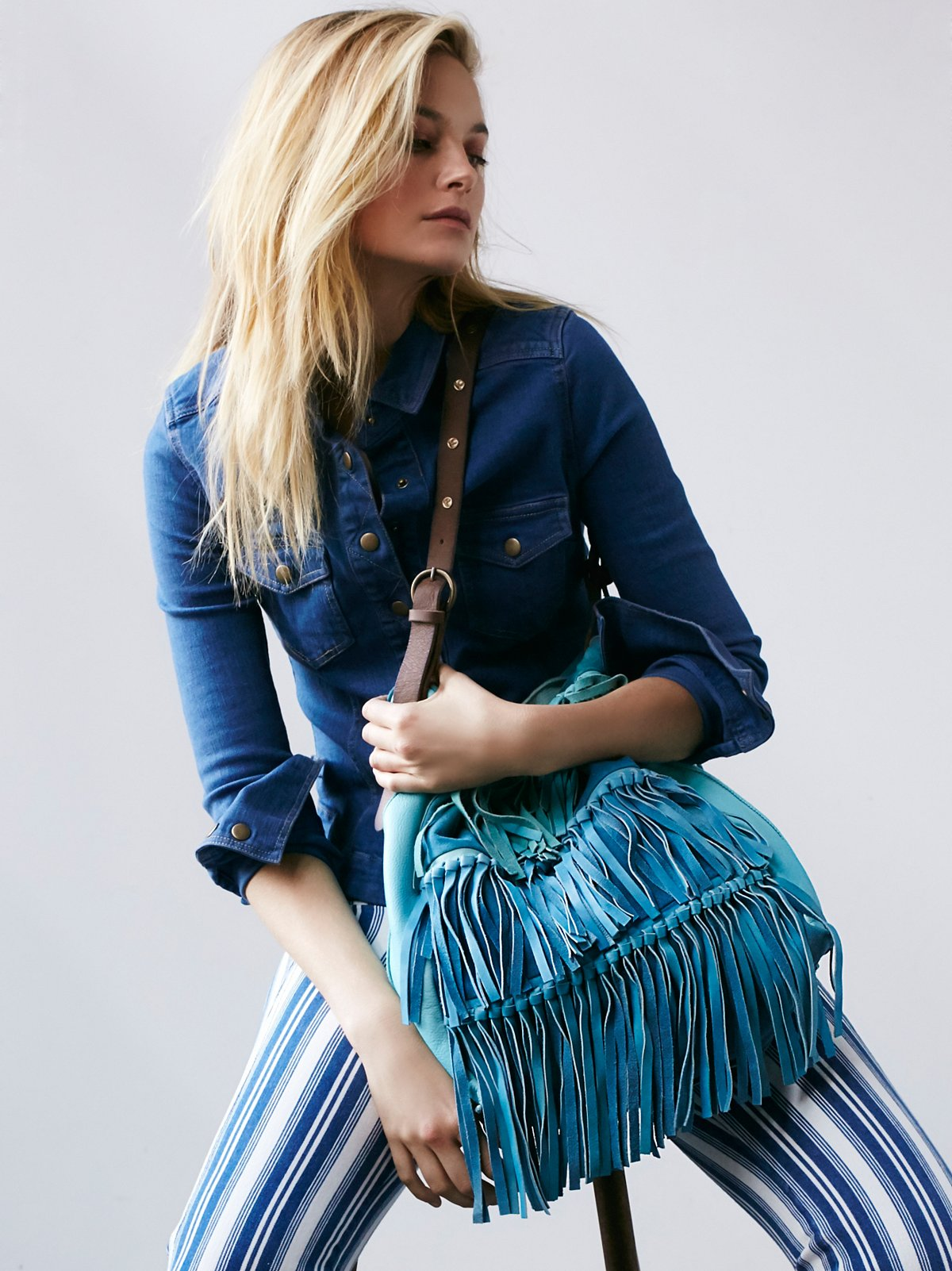 Salty Sea Fringe Tote