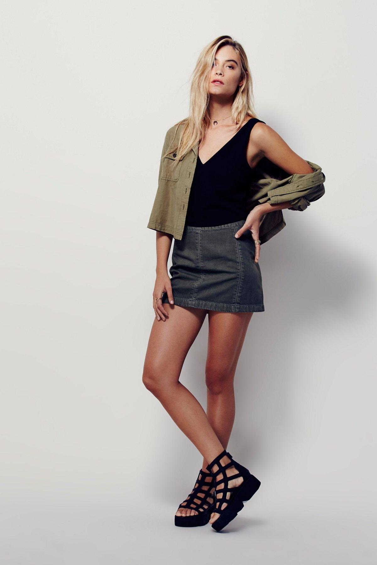 Zip to It Denim Mini Skirt