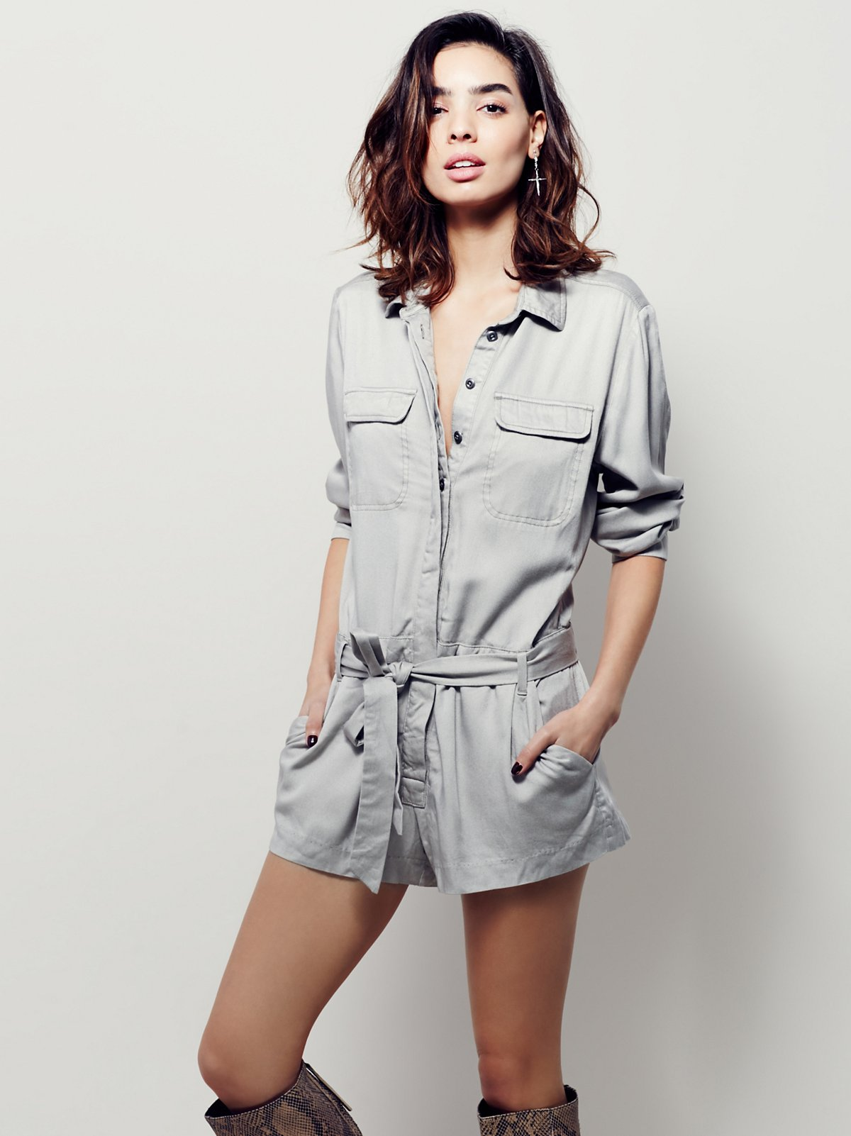 Relaxed Shirt Romper