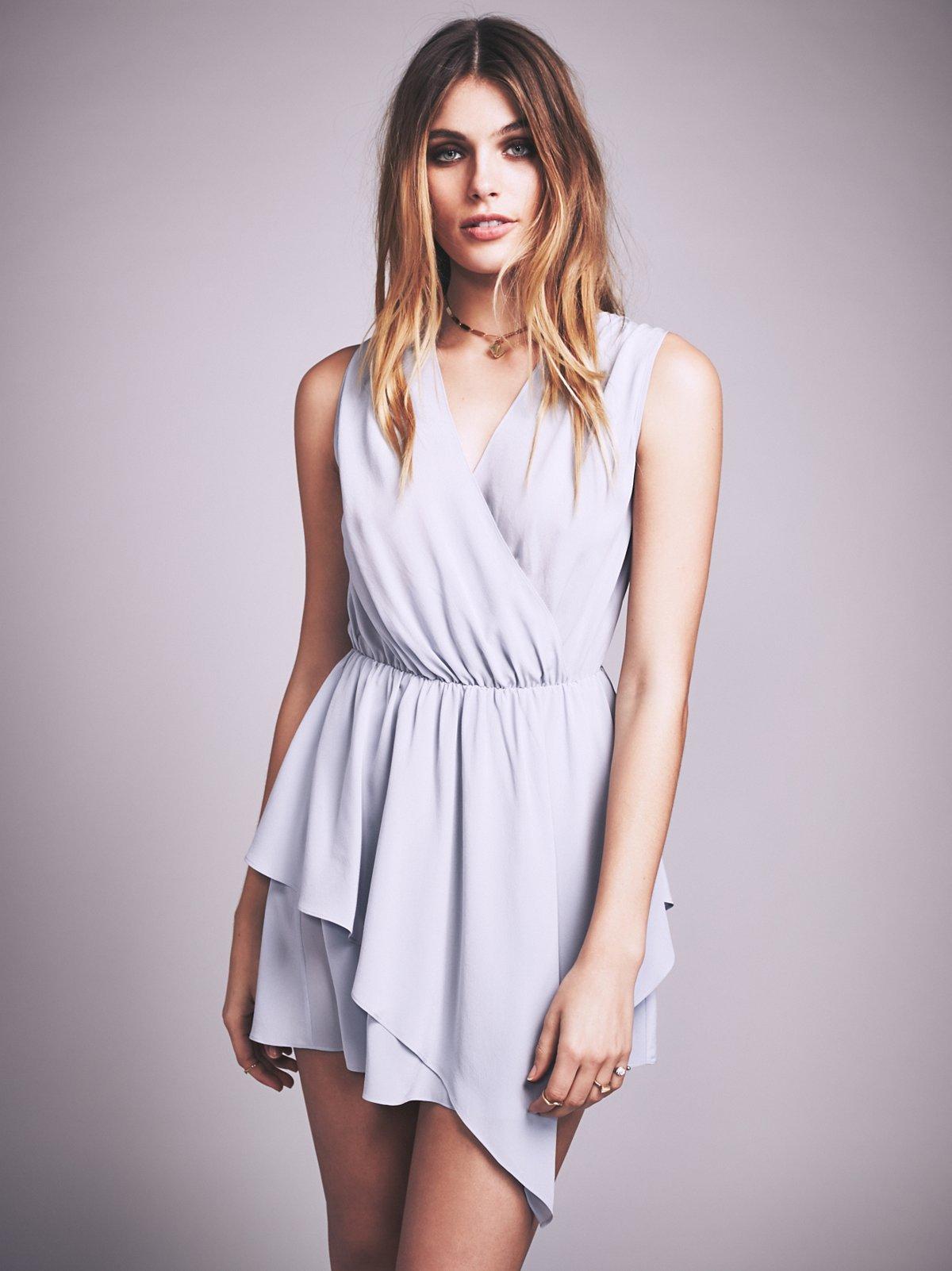 Plie Washed Silk Mini Dress