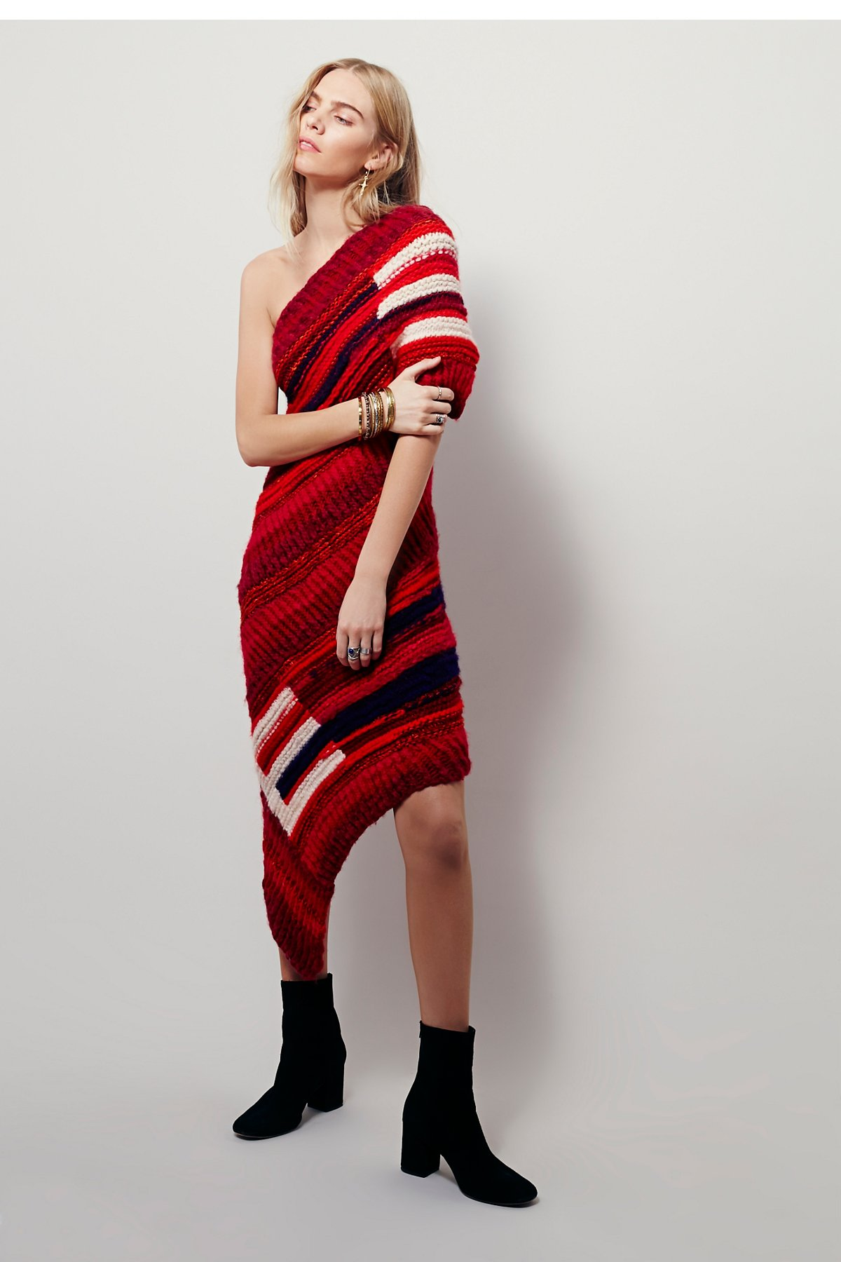 Red Sun毛线连衣裙