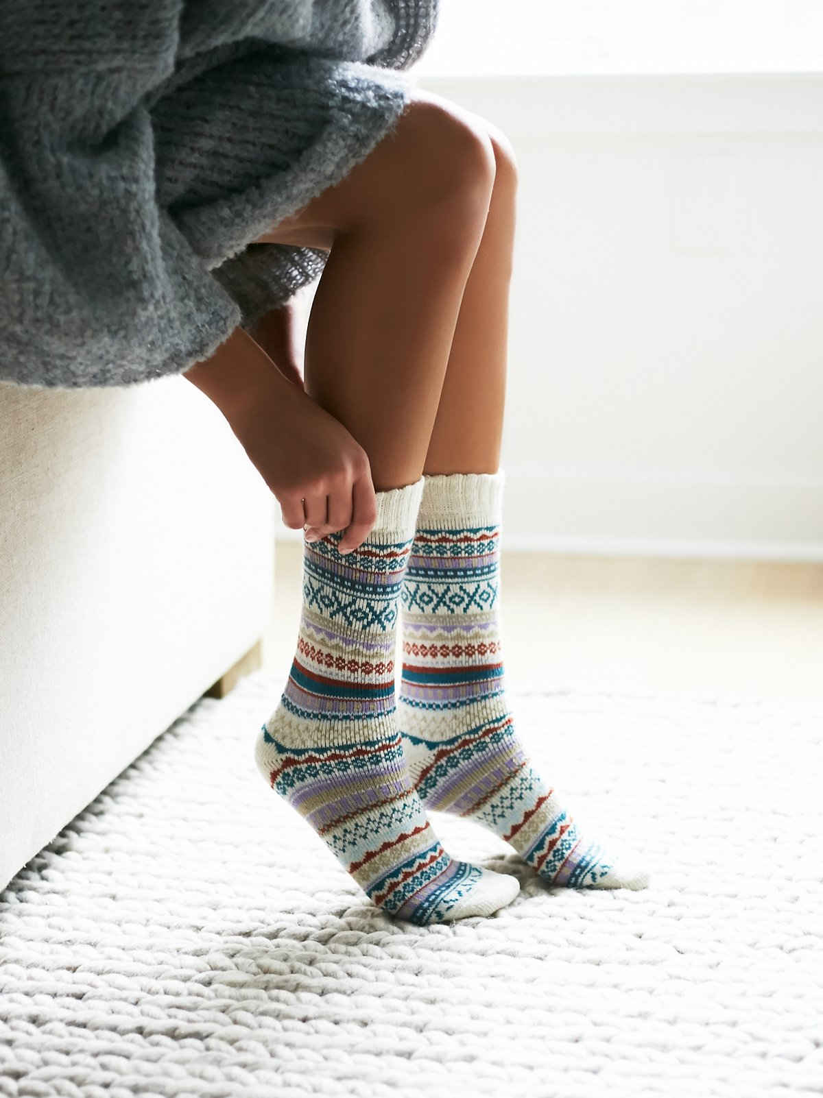 Haydon费尔岛图案袜子