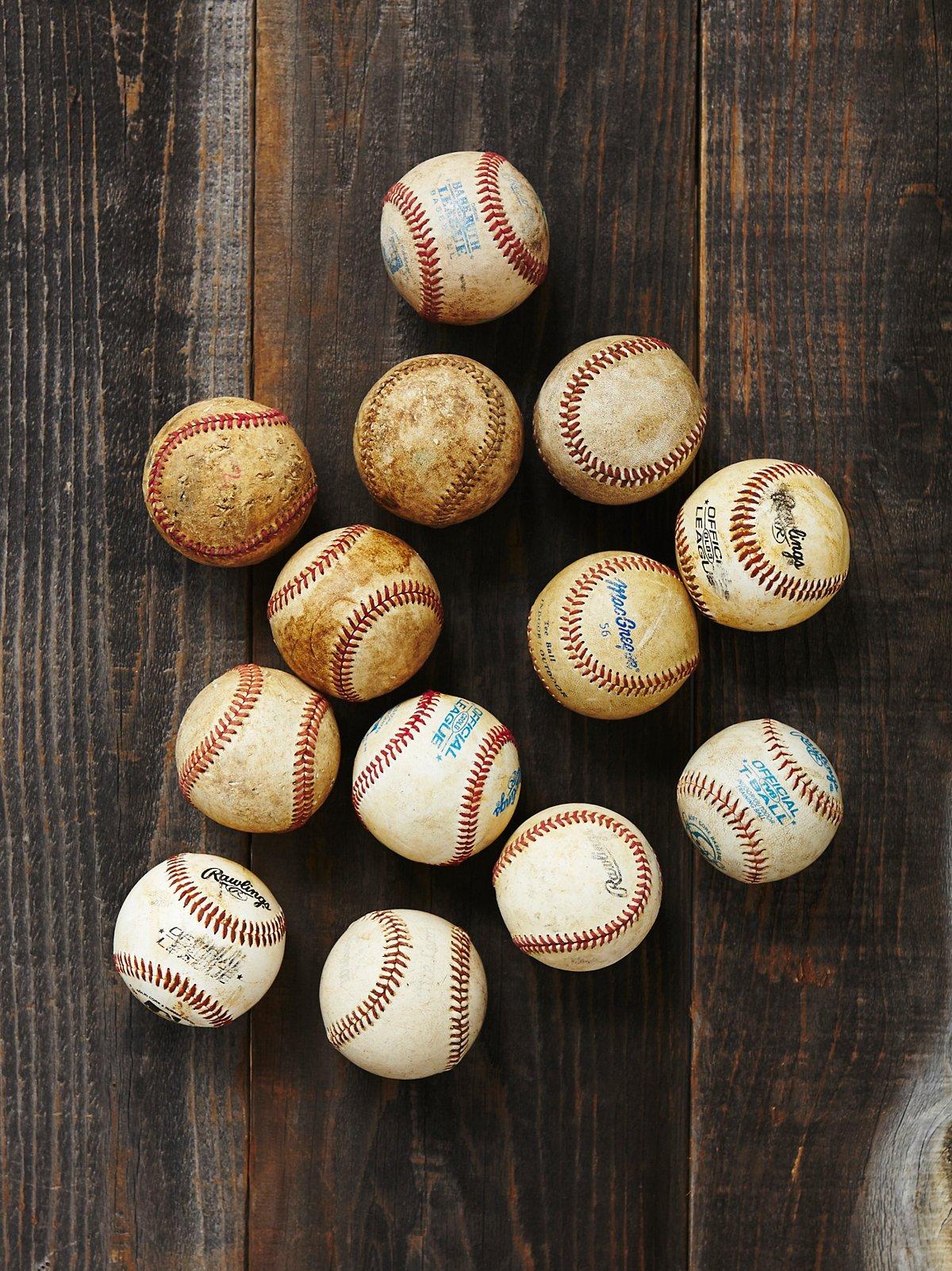 Vintage Assorted Baseballs