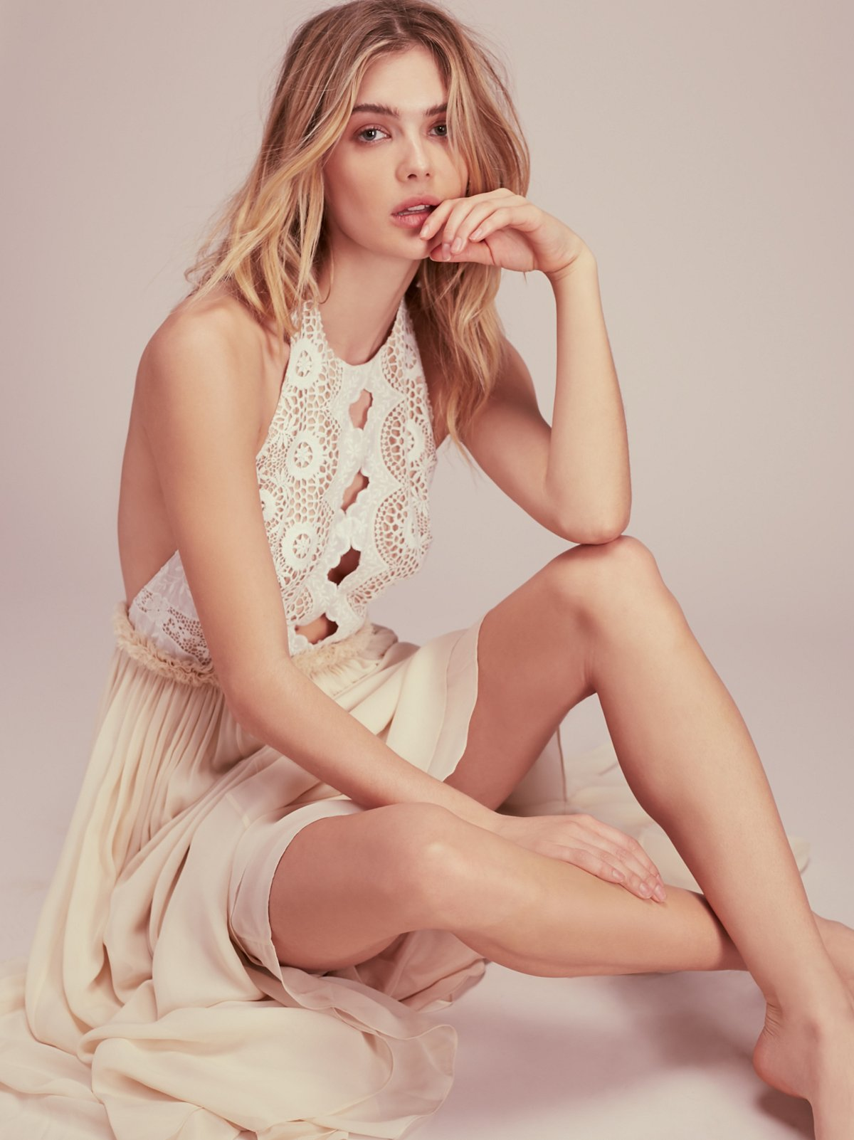 Kristin's Limited Edition White Dress at Free People Clothing Boutique