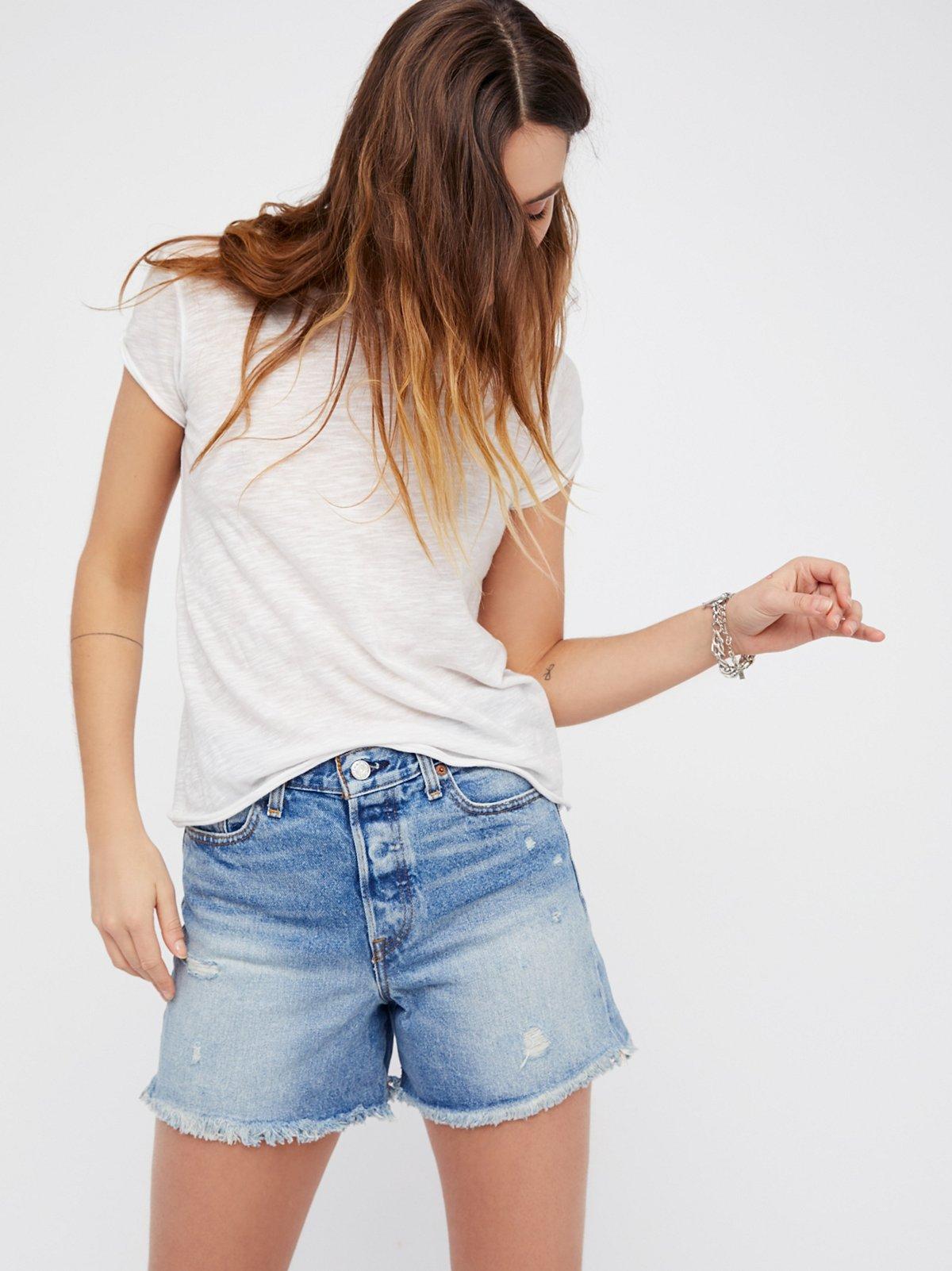Levi's High Rise Wedgie Denim Shorts