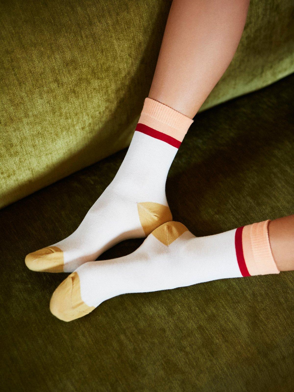 Dazed Stripe Crew Sock