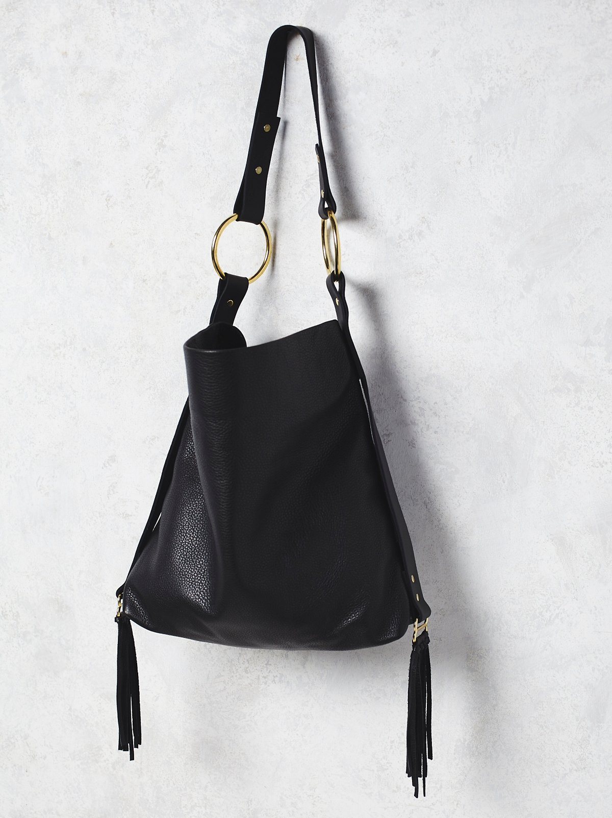 Mega Ring Leather Hobo
