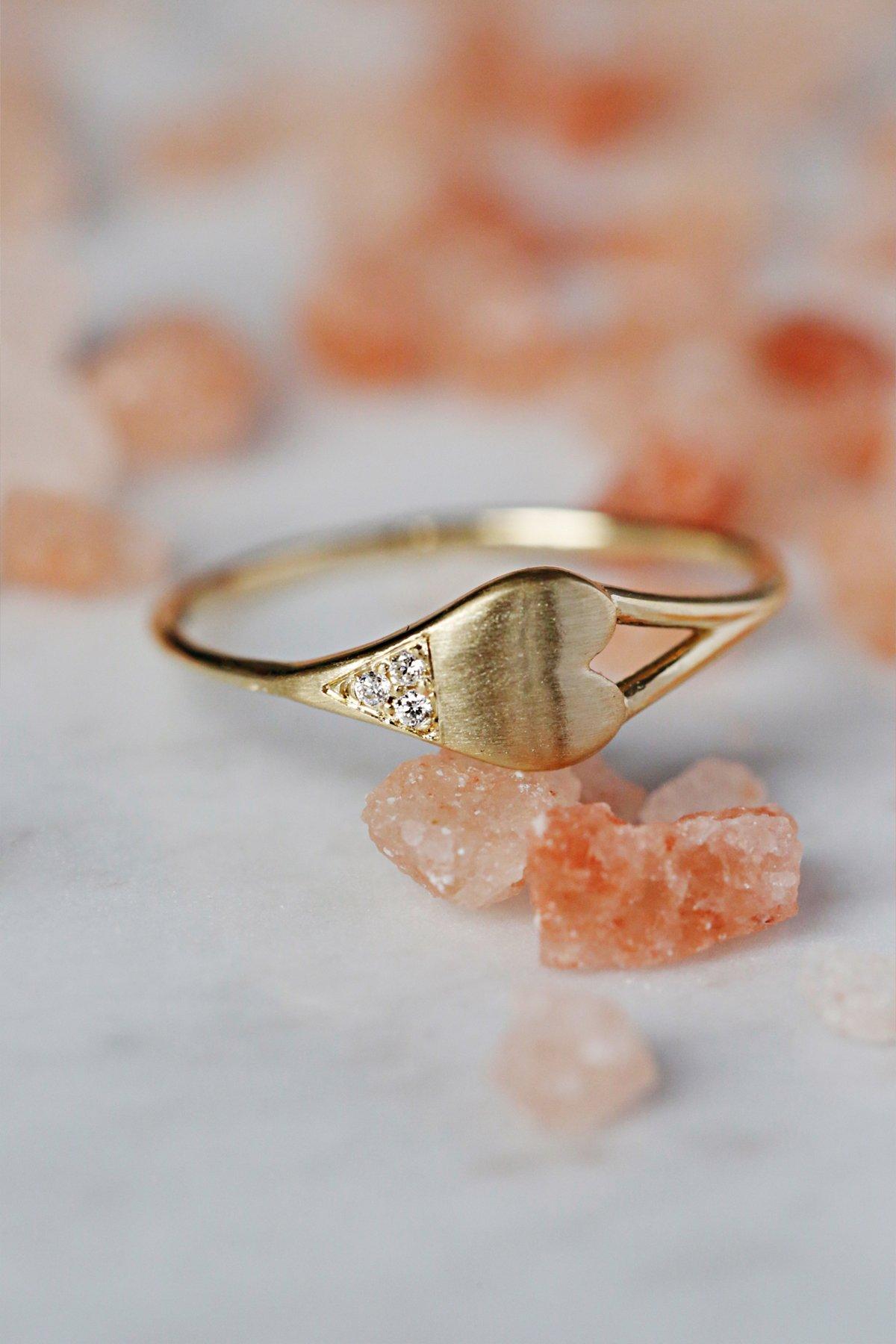 Diamond Dipped Heart Ring