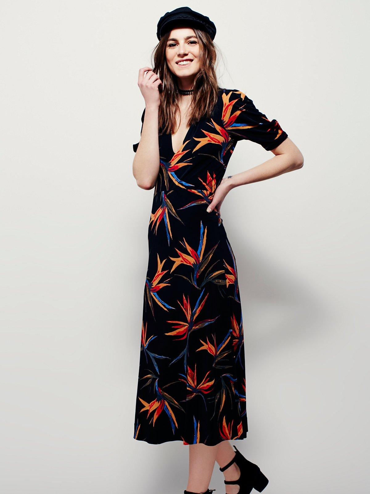 Sarah Printed Midi Dress