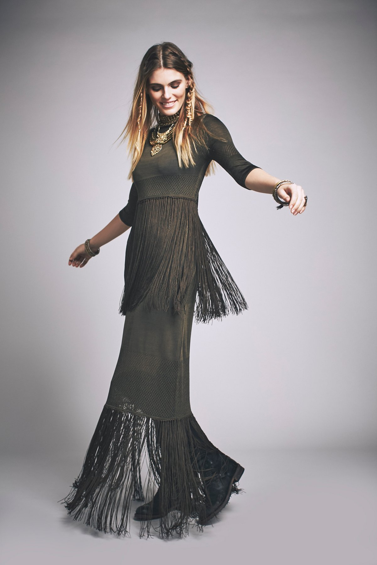 Skye Fringe Maxi Dress