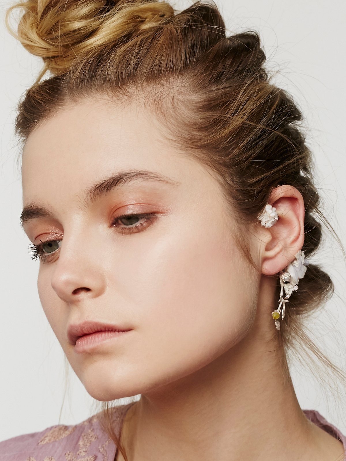 Dried Flower Ear Cuff