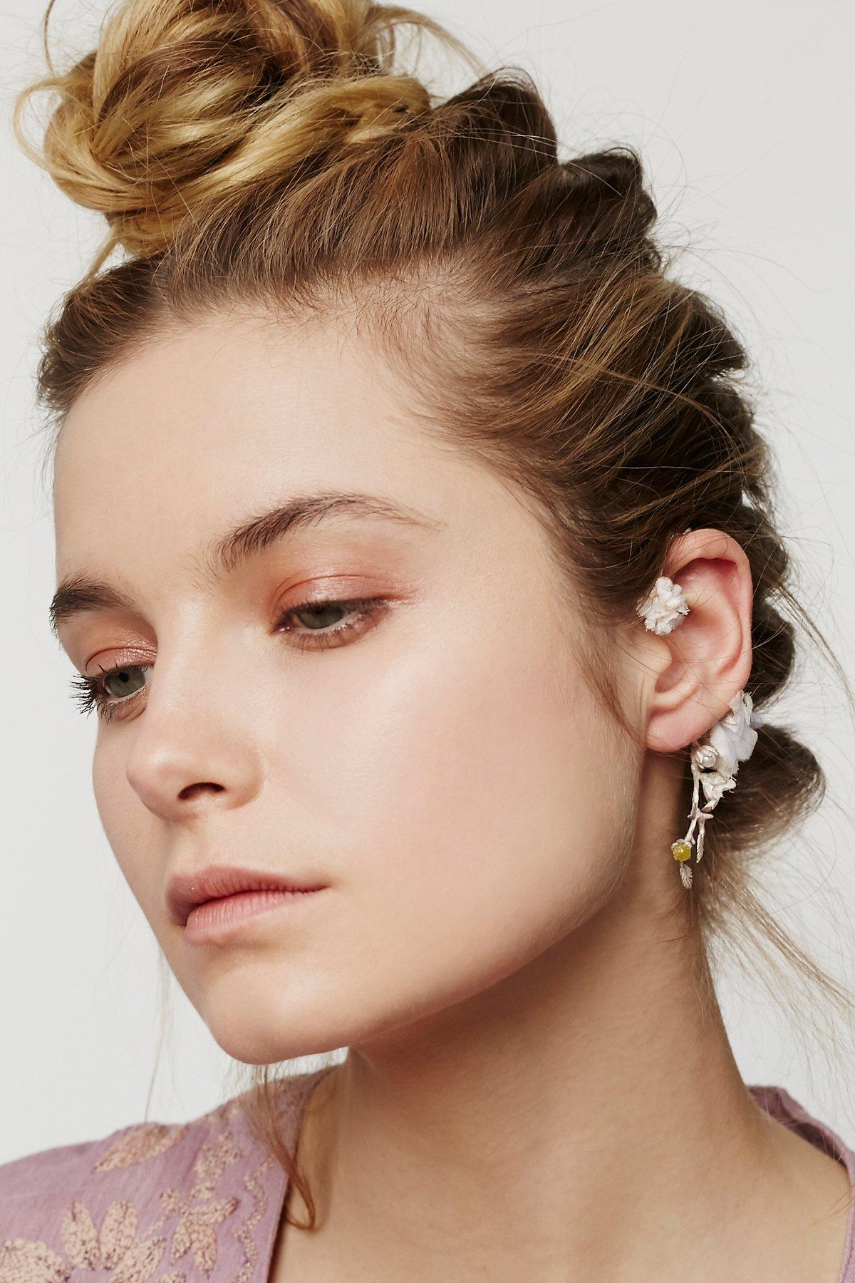 Dried Flower Ear Cuff